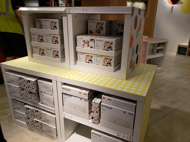 IKEA Brooklyn BYGGLEK display イケアとレゴのコラボ商品のディスプレイ