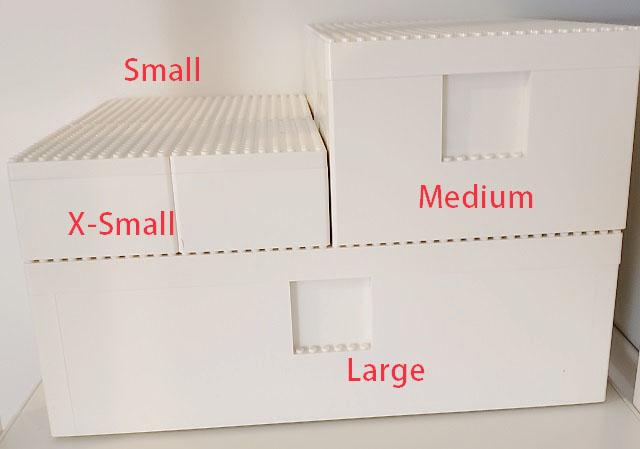 イケアとレゴの収納ボックスBYGGLEK全サイズ