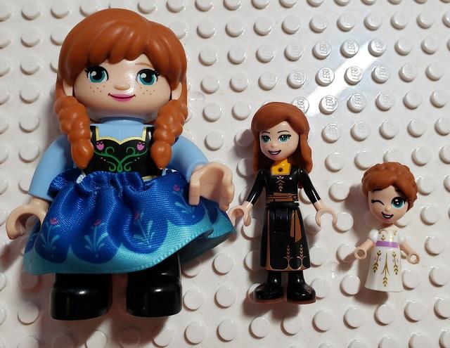 アナと雪の女王 アナ レゴ フィグ 比べ 比較