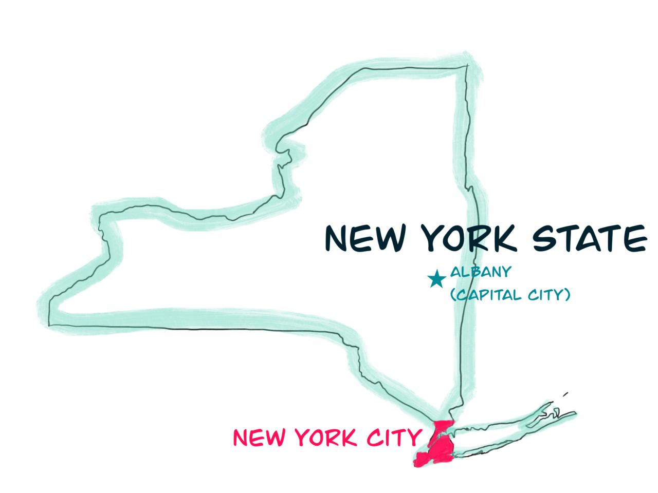 ニューヨークの地図 オリジナル