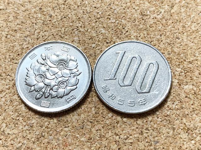 100円玉 裏と表 100 Japanese yen coins