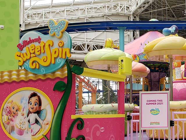 Nickelodeon Nick Universe New Jersey ニコロデオン ユニバース アメリカ ニュージャージー NJ 屋内テーマパーク・遊園地のアトラクション カップケーキ Sweet Spin