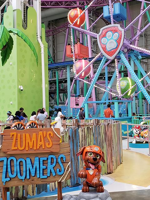 Nickelodeon Nick Universe New Jersey ニコロデオン ユニバース アメリカ ニュージャージー NJ 屋内テーマパーク・遊園地のアトラクションと遊び場 パウパトロール パウ・パトロール ズーマ ホバークラフト おもちゃ