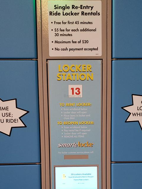 Nickelodeon Nick Universe New Jersey ニコロデオン ユニバース アメリカ ニュージャージー NJ 屋内テーマパーク・遊園地 ロッカー