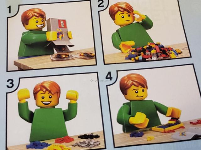レゴ (LEGO)ブリックヘッズの招き猫・ラッキーキャット 説明書の一部