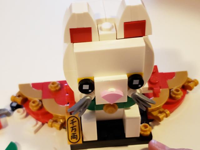 レゴ (LEGO)ブリックヘッズの招き猫・ラッキーキャット完成